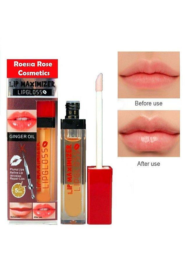 6. Rose dudak dolgunlaştırıcı ve parlatıcı lip maximizer gloss, dudaklarınızı nemlendirirken aynı zamanda daha sıkı ve gergin bir görünüme de kavuşturur.