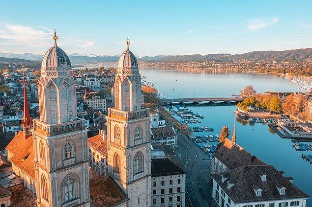 10. Zürih, İsviçre