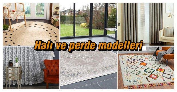 Evinizin Dekorasyonuna Hava Katacak Son Trend Halı ve Perde Modelleri