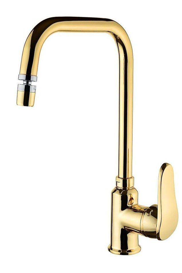 6. Aslında bir ihtiyaç olan musluğun gold kaplama olması da...