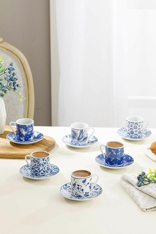 1. English Home kahve fincan takımı maviş maviş içinizi açacak...