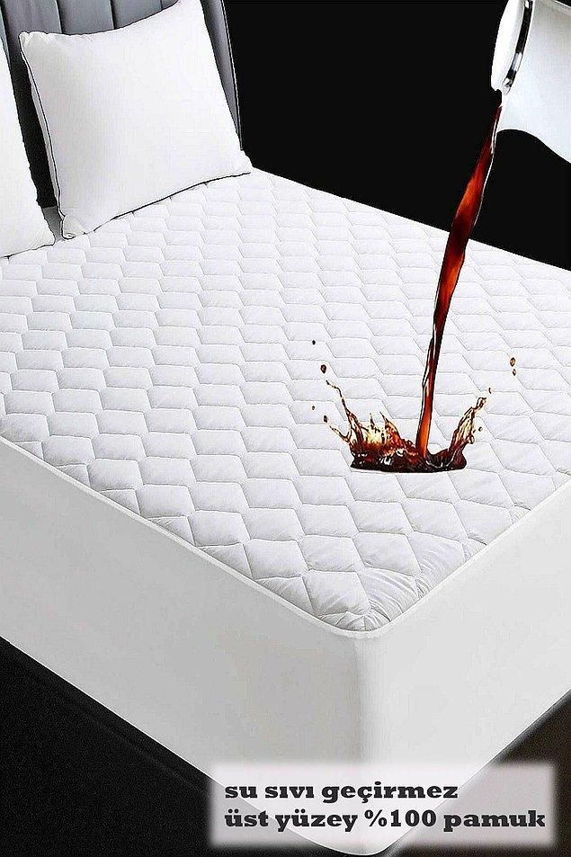16. Kapitone fitted sıvı geçirmez yatak koruyucu alez yurda çıkan öğrenciler için büyük ihtiyaç!
