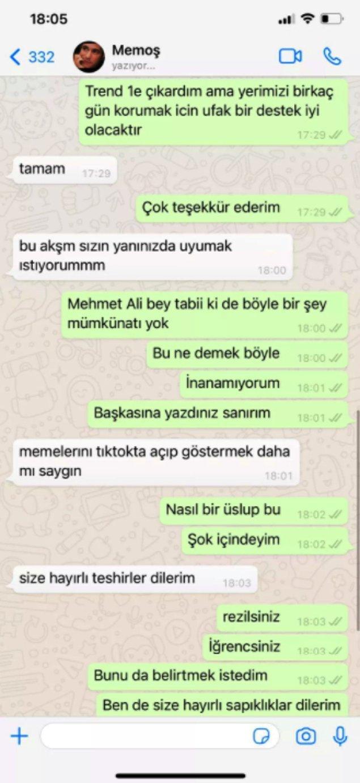 Daha önce Ece Ronay'ın klibinde oynayan Mehmet Ali Erbil, iddialara göre şöyle mesajlar atmıştı. Genç şarkıcı tüm bu mesajları ifşa etti.