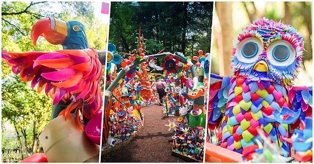 Birçok İnsanın Katılımı ile 3 Ton Plastik Atığı Rengarenk Tasarımlar ile Görsel Bir Şölene Dönüştüren Adam