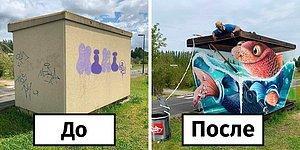 20 реалистичных граффити от французского художника убедят вас в том, что этот вид искусства недооценен (Новые фото)