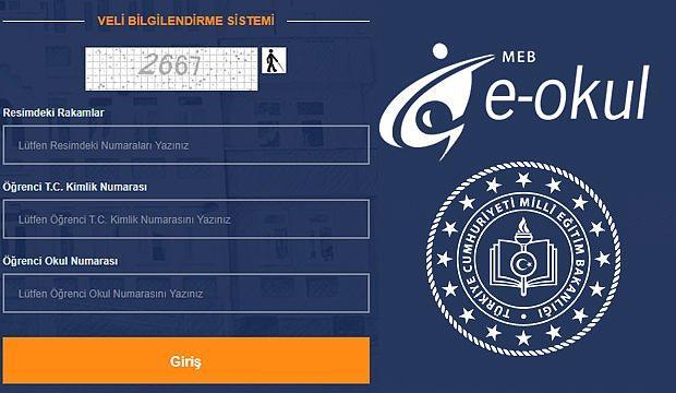E- Okul Veli Bilgilendirme Sistemi Giriş Ekranı: E-Okul Sınav Notu Sorgulama Ekranı...