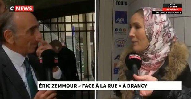 Fransa'da Cumhurbaşkanı Aday Adayı Zemmour, Röportaj Sırasında Başörtülü Kadının Başını Açtırdı